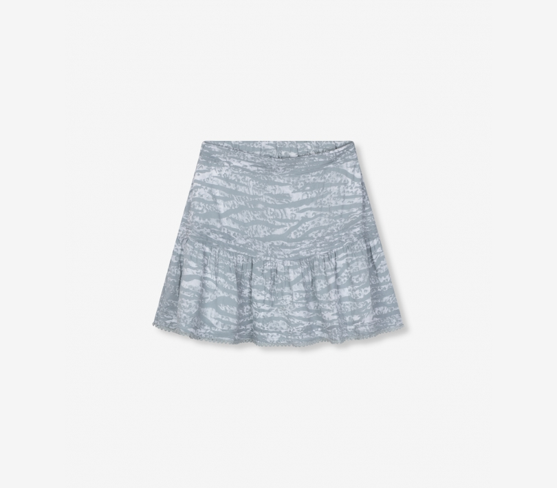Animal short skirt pebble grey ALIX The Label