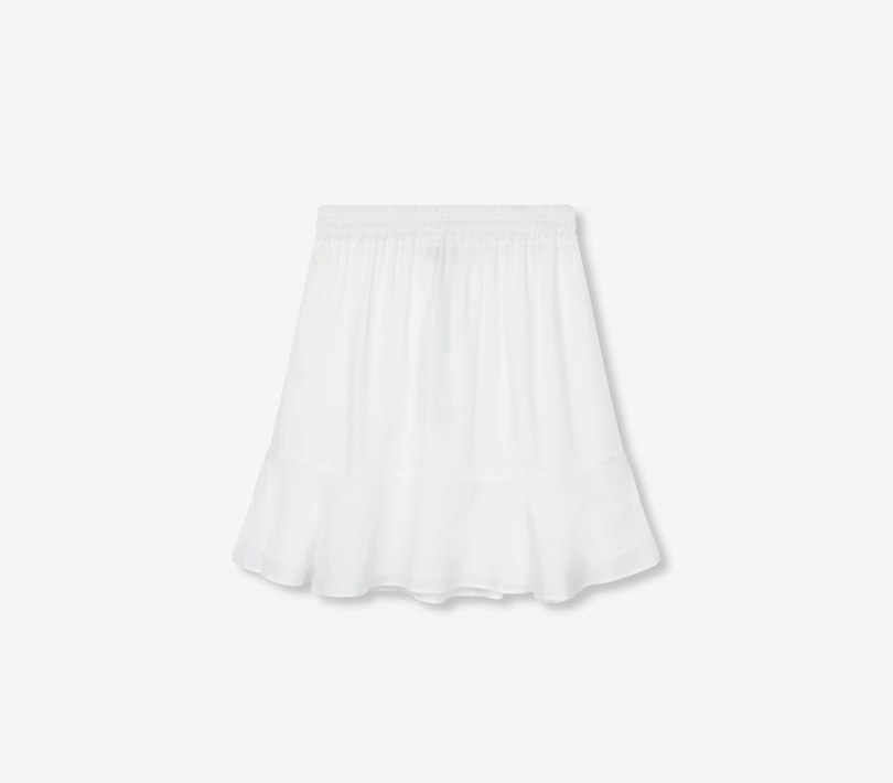 Short viscose skirt soft white ALIX The Label
