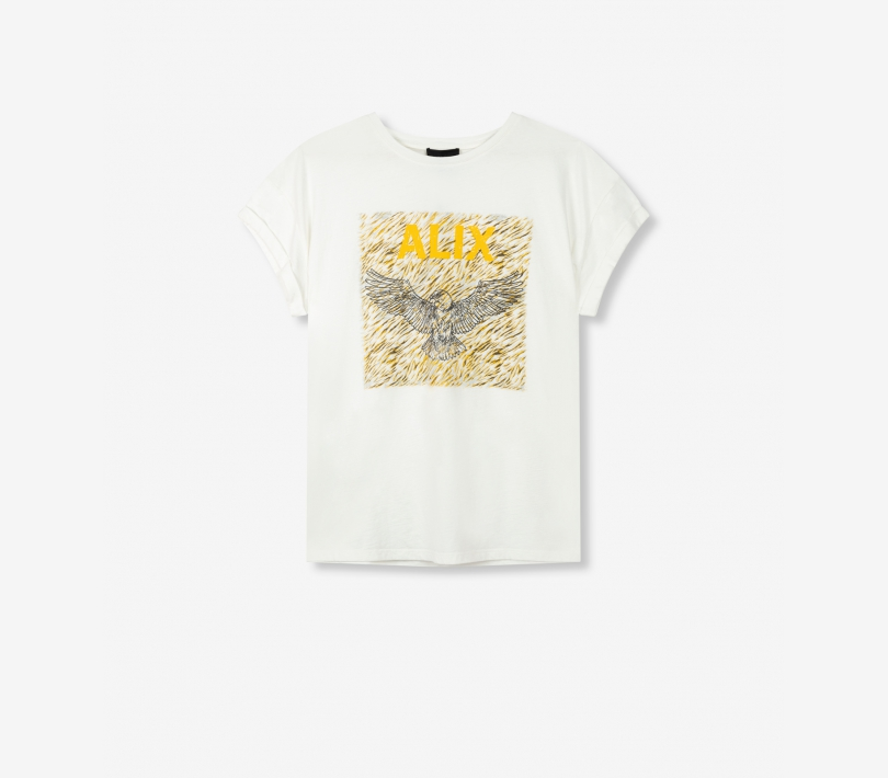 Boxy eagle t-shirt off white ALIX The Label