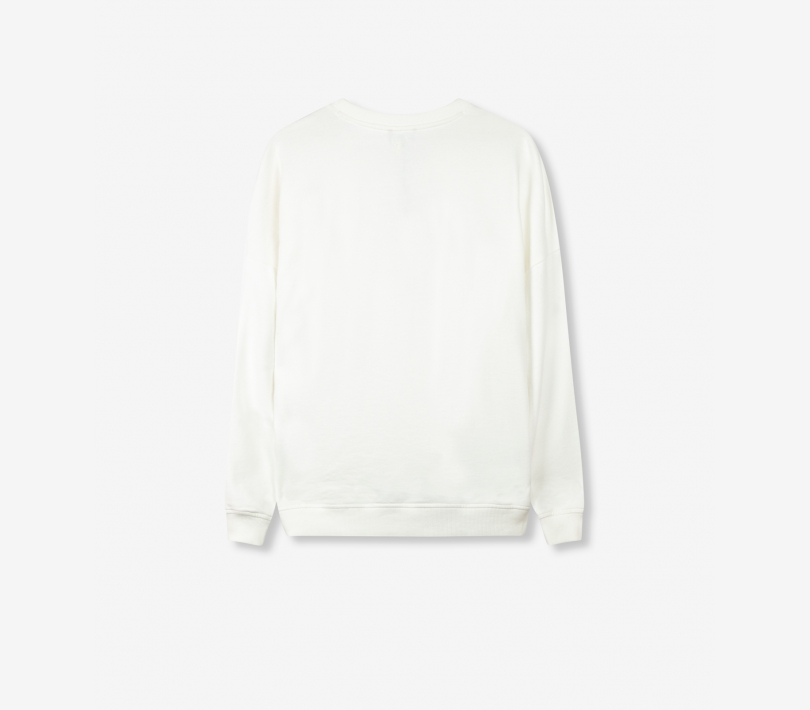 Garment dyed boxy alix sweater off white ALIX The Label
