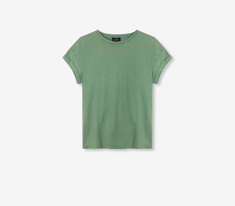 Boxy the label t-shirt faded army ALIX The Label