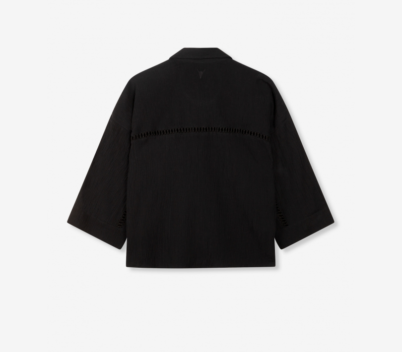 Crinkle blouse black ALIX The Label