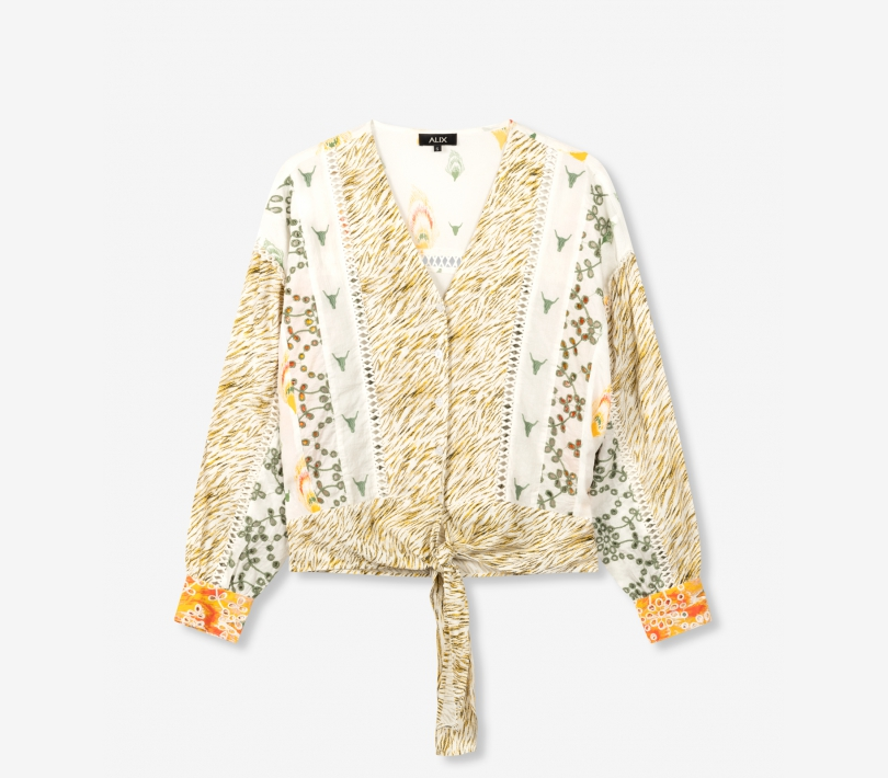Fancy mix blouse off white ALIX The Label
