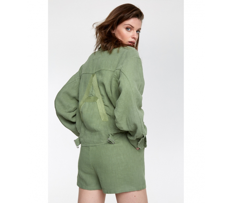 Ramie jacket faded army ALIX The Label