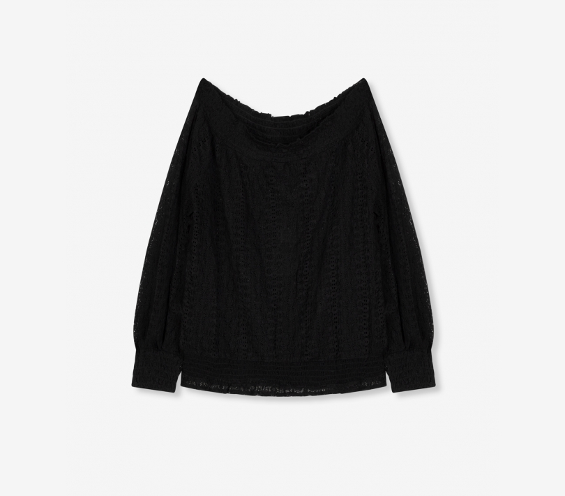 Off shoulder lace top black ALIX The Label