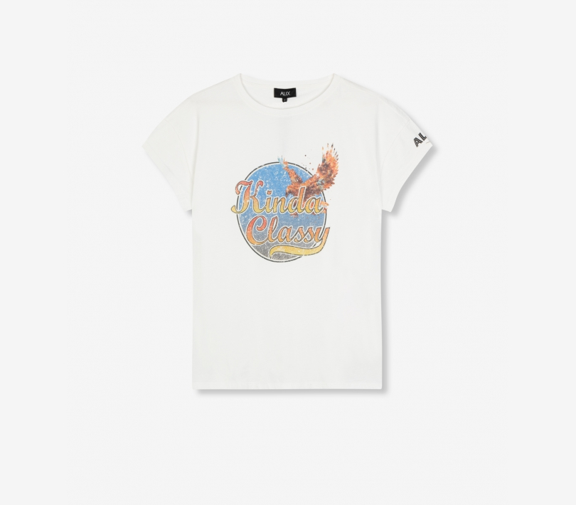 Washed classy t-shirt soft white ALIX The Label