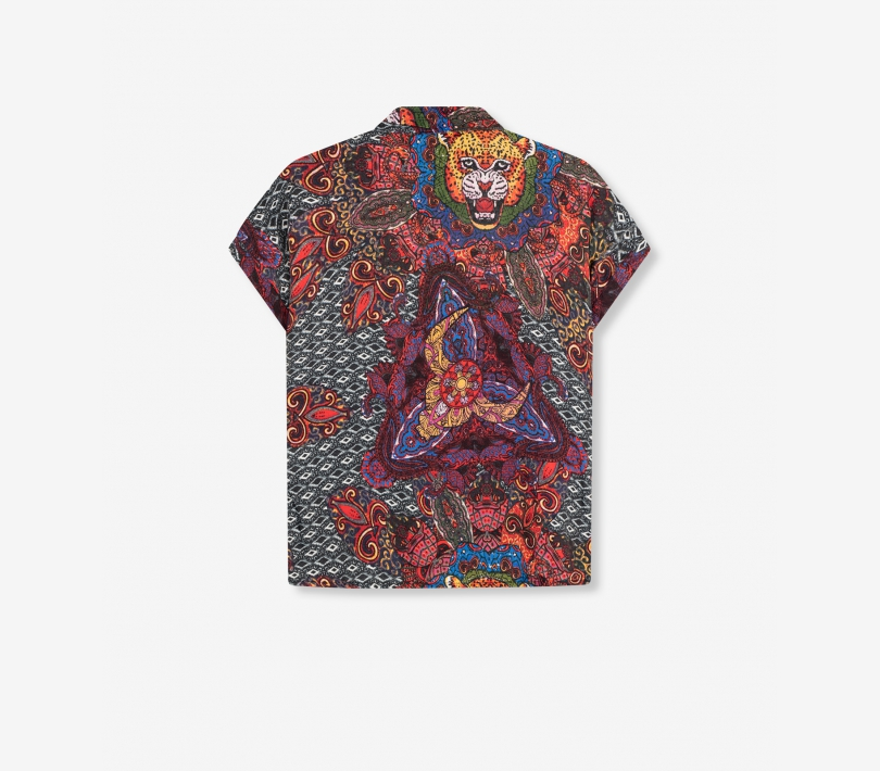 Ethnic satin blouse multi colour ALIX The Label