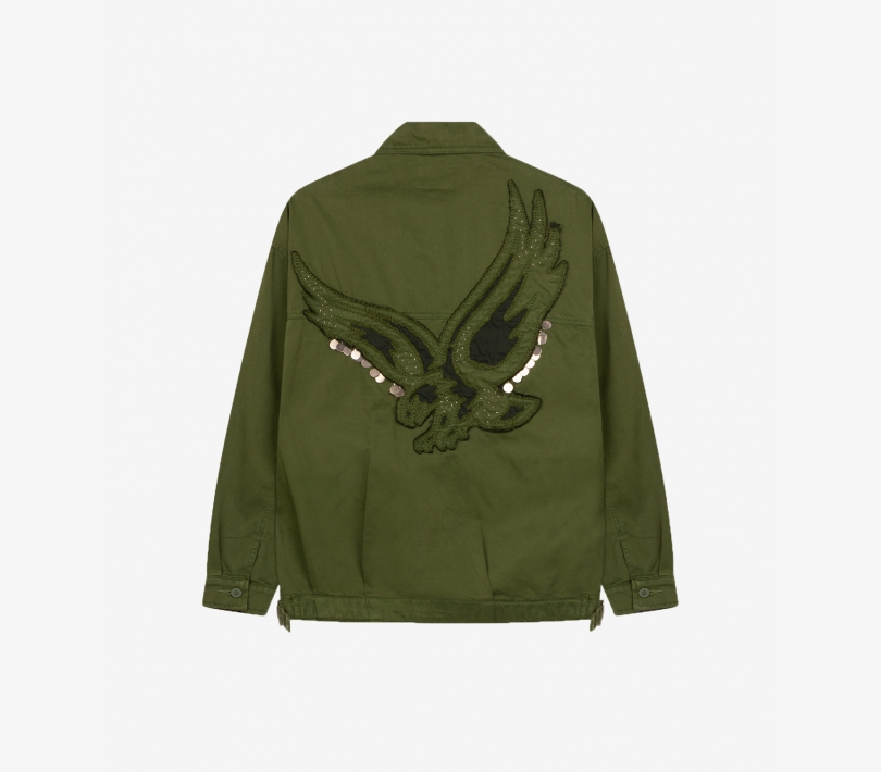 Embroidered jacket forest green ALIX The Label