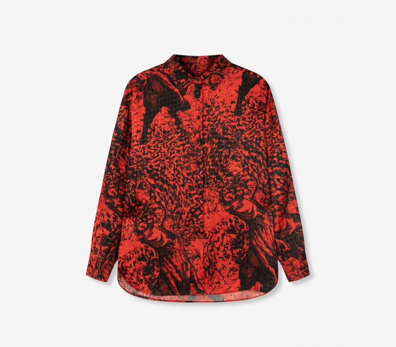 Big bull blouse warm red ALIX The Label