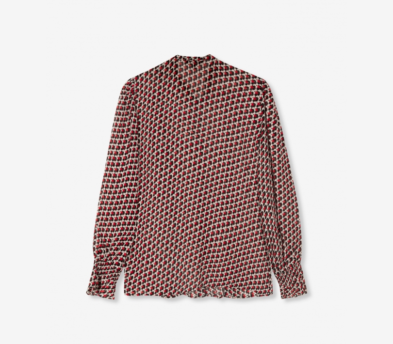 Graphic star chiffon blouse warm red ALIX The Label