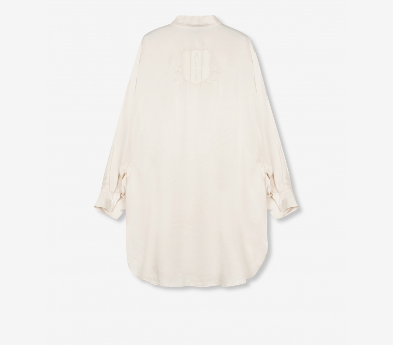 Satin blouse powder white ALIX The Label
