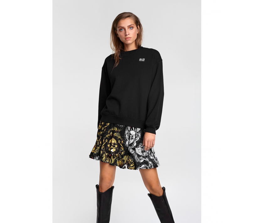 Lion ruffle skirt black ALIX The Label