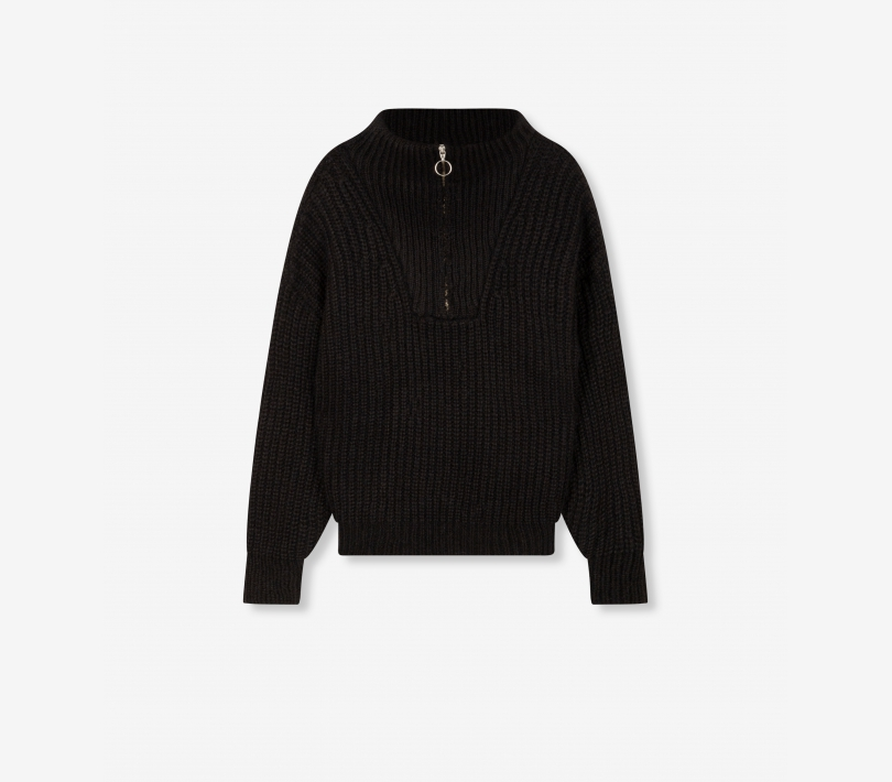 Pullover with zip black ALIX The Label
