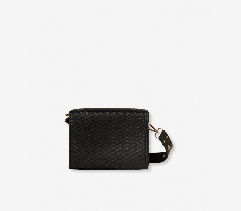 Snake faux leather small bag black ALIX The Label
