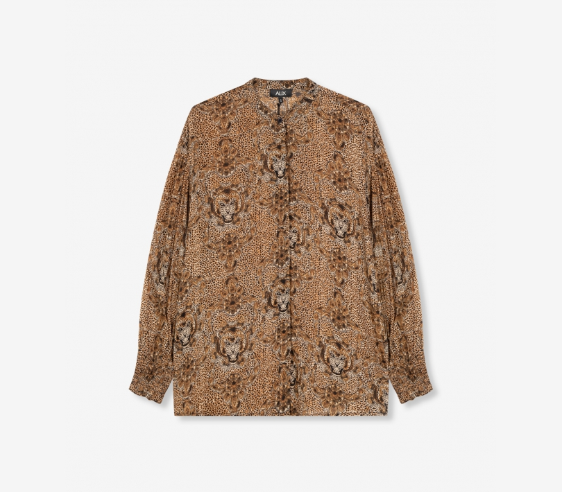 Animal crepe blouse animal ALIX The Label