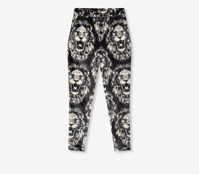 Lion vetvet pants black ALIX The Label