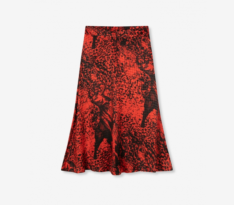 Big bull maxi skirt warm red ALIX The Label