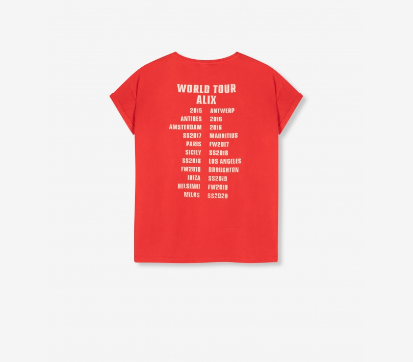 On tour t-shirt warm red ALIX The Label
