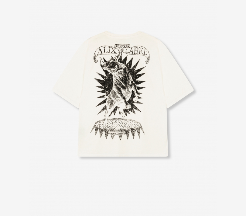 Bull t-shirt soft white ALIX The Label