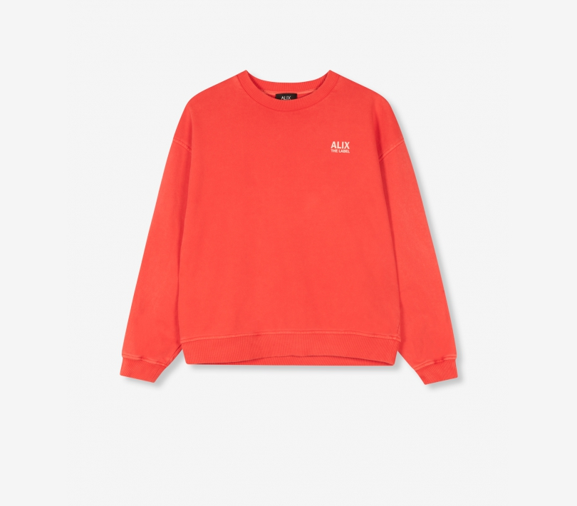 Oversized on tour sweater warm red ALIX The Label