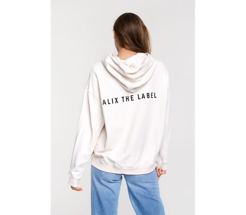 Oversized hoodie powder white ALIX The Label