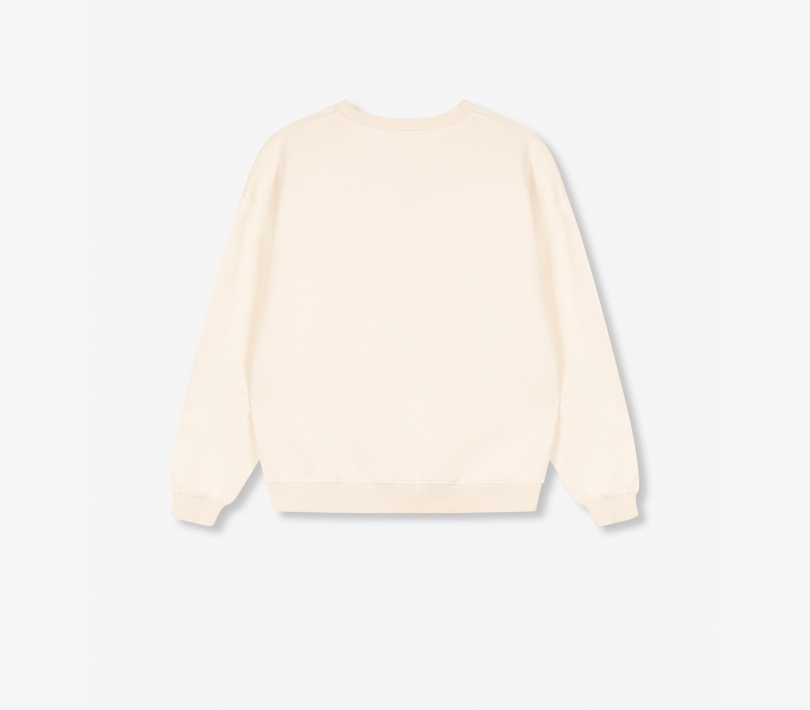 Oversized bull sweater powder white ALIX The Label