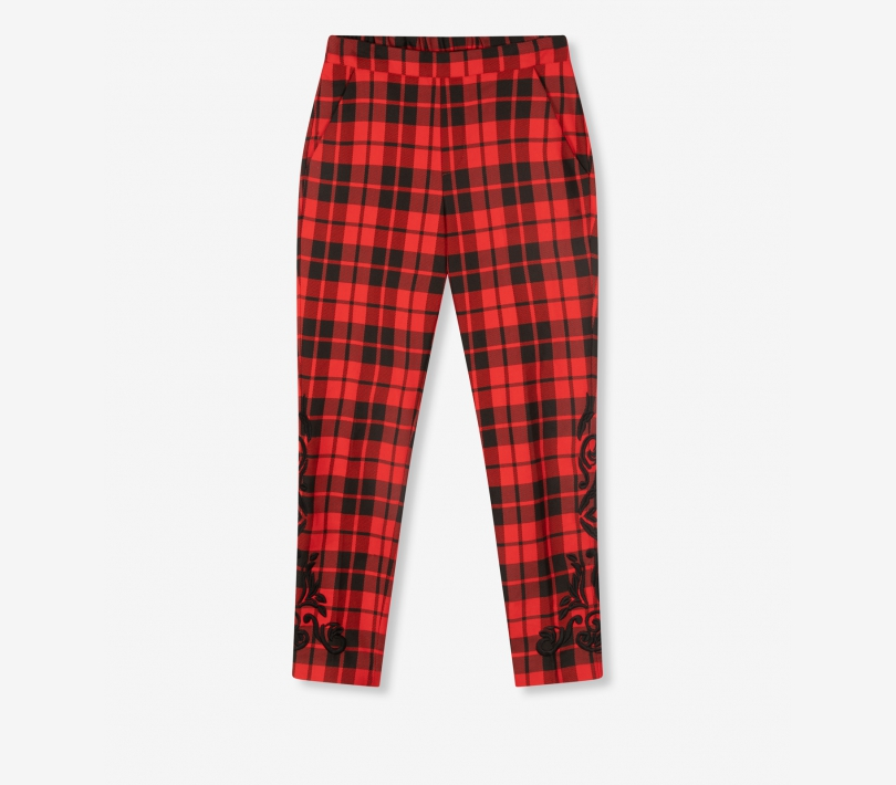 Check pants warm red ALIX The Label