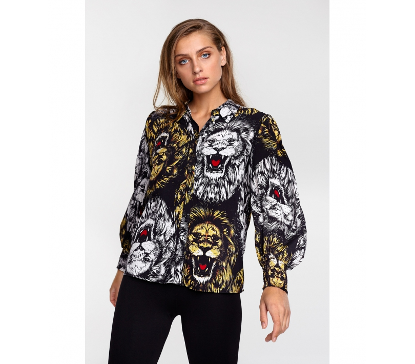 Lion blouse black ALIX The Label