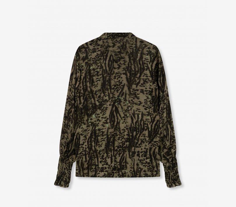 Animal blouse dark olive ALIX The Label