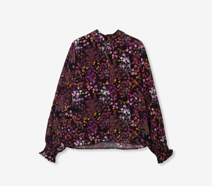 Ditsy flower blouse purple ALIX The Label
