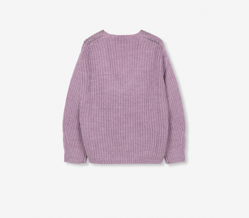 V-neck pullover lilac ALIX The Label