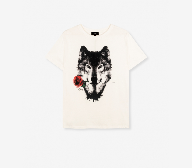 Wolves t-shirt soft white ALIX The Label