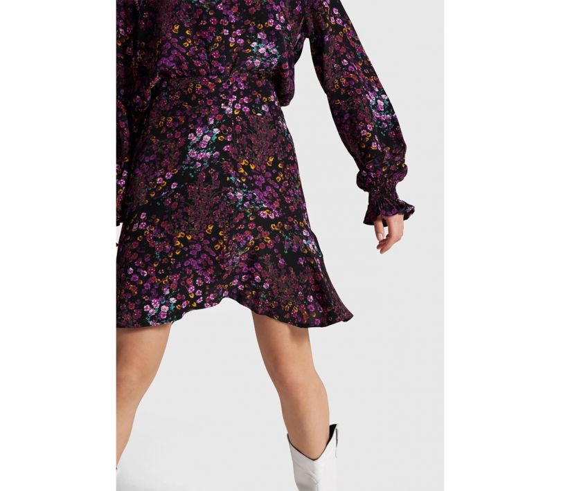 Ditsy flower short skirt purple ALIX The Label