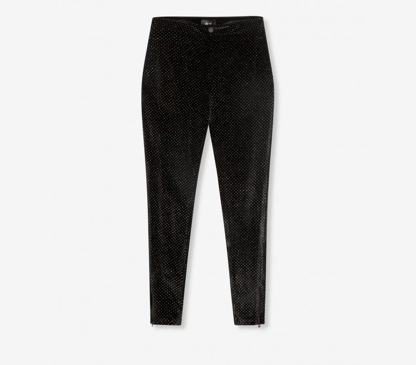 Glitter dot velvet skinny pants black ALIX The Label