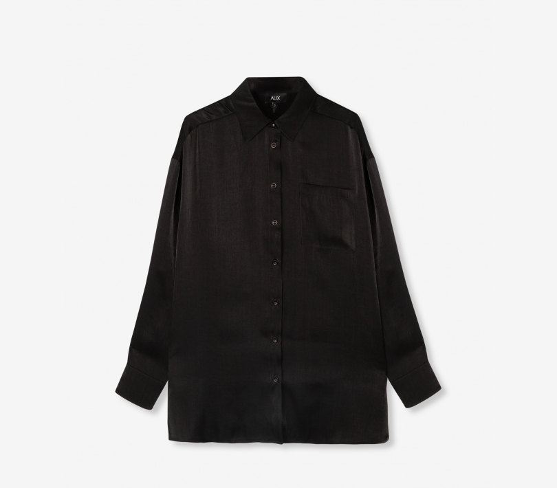 Subtle shine blouse black ALIX The Label