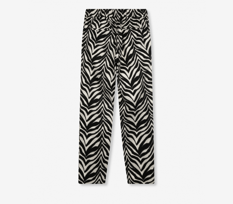 Zebra stretch pants black ALIX The Label