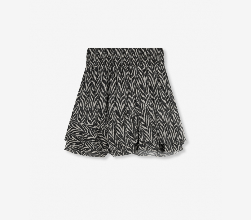 Zebra lurex skirt black ALIX The Label