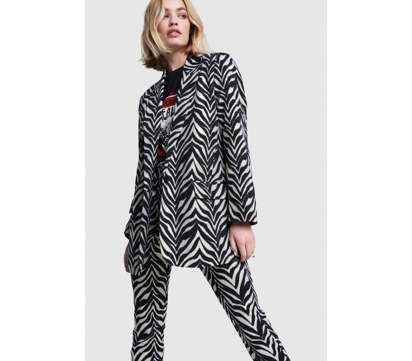 Zebra stretch blazer black ALIX The Label