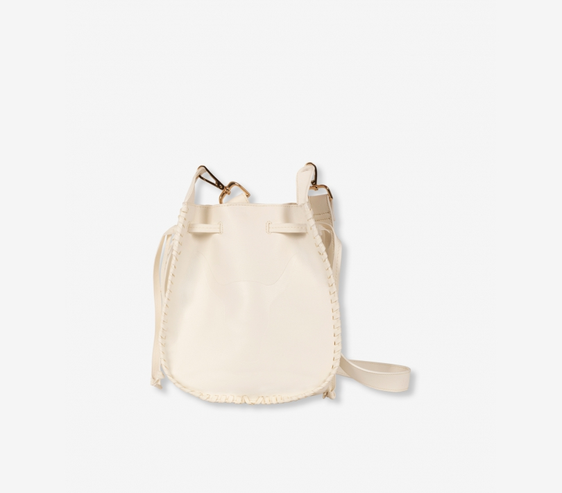 Faux leather bag creamy white ALIX The Label