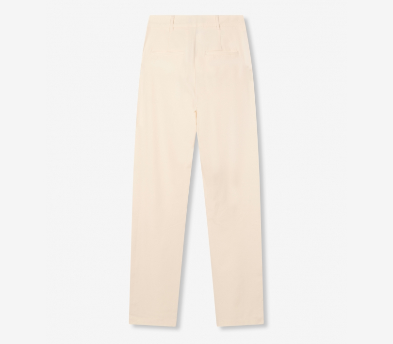 Stretch wide leg pants creamy white ALIX The Label