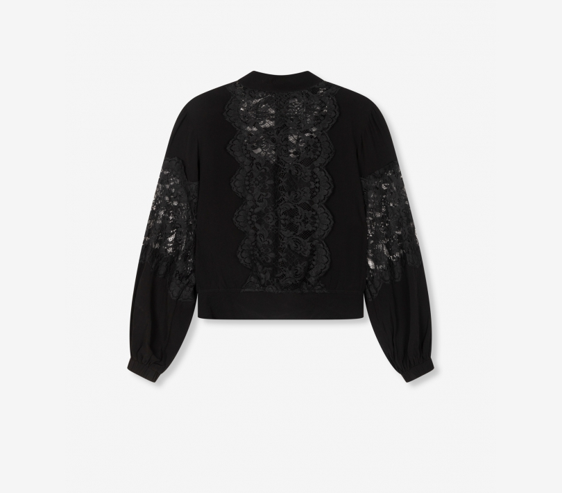 Lace crepe blouse black ALIX The Label