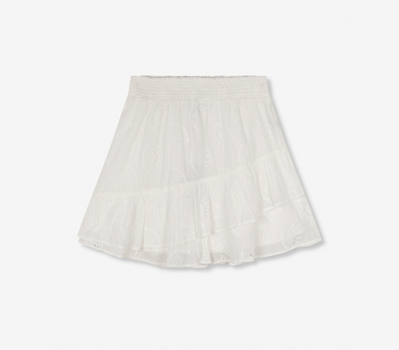 Broderie mini skirt soft white ALIX The Label