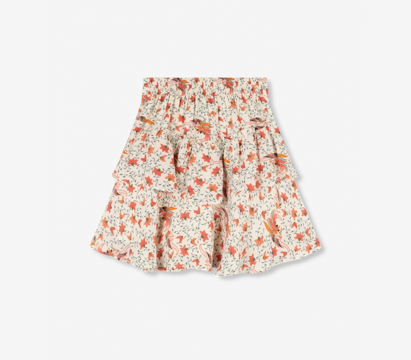 Floral ruffle skirt creamy white ALIX The Label