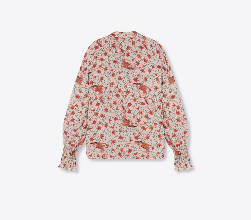 Floral blouse creamy white ALIX The Label