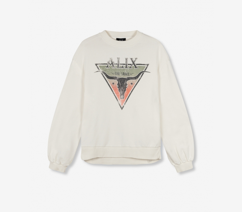 Triangle sweater soft white ALIX The Label