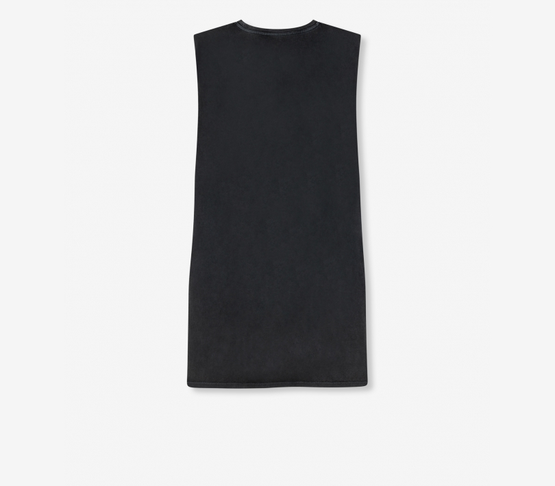 Sleeveless long t-shirt black ALIX The Label
