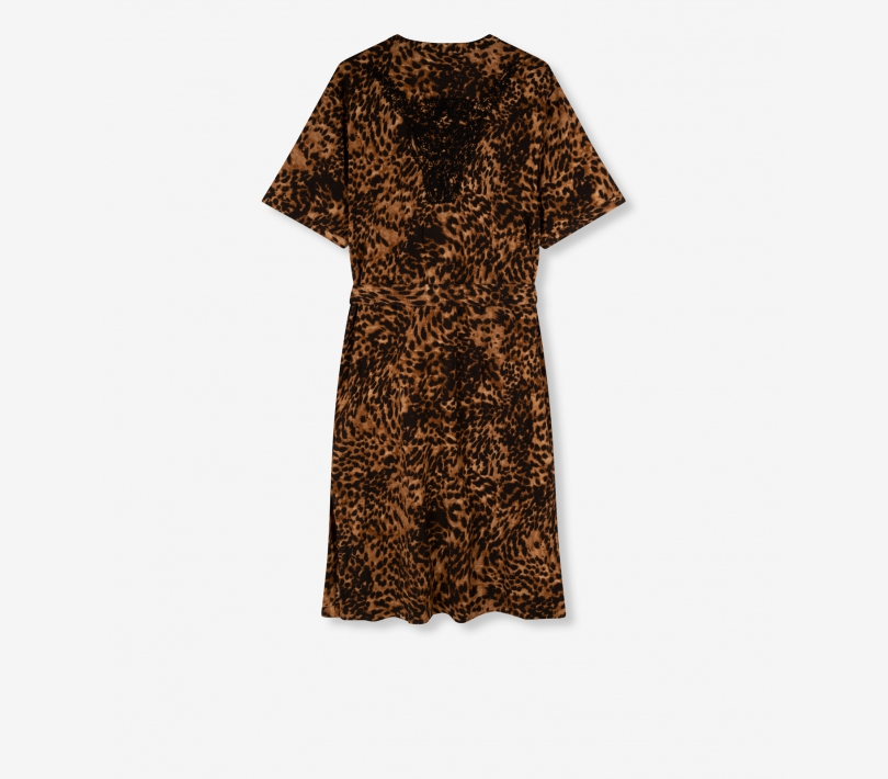 Jaguar crinkle dress animal ALIX The Label